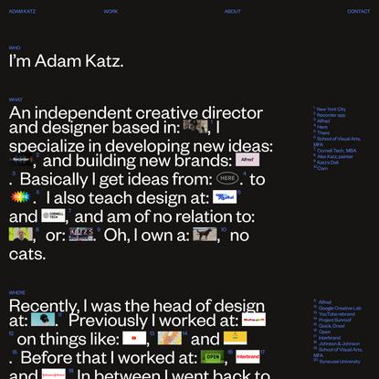 ADAM KATZ – CREATIVE DIRECTOR