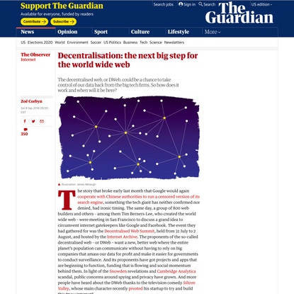 Decentralisation: the next big step for the world wide web