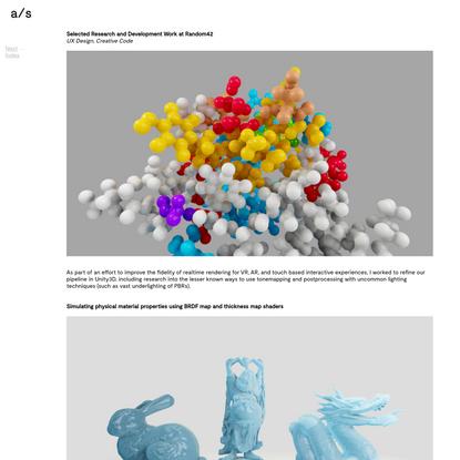 Selected Research and Development at Random42 - Portfolio of Adam Samson