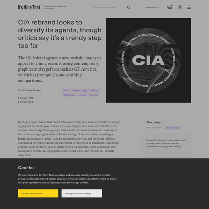 CIA rebrand looks to diversify its agents, though critics say it's a trendy step too far