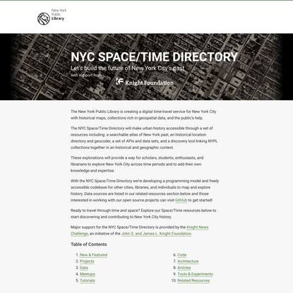 NYC Space/Time Directory