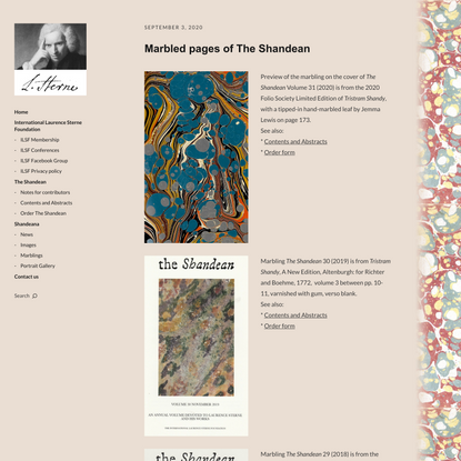 Marbled pages of The Shandean | The Shandean