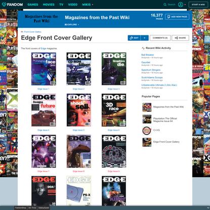 Edge Front Cover Gallery
