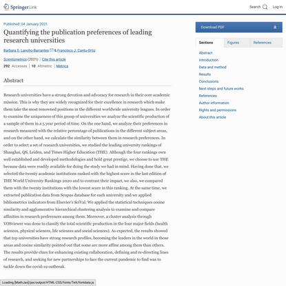 Quantifying the publication preferences of leading research universities