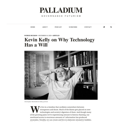 Kevin Kelly on Why Technology Has a Will