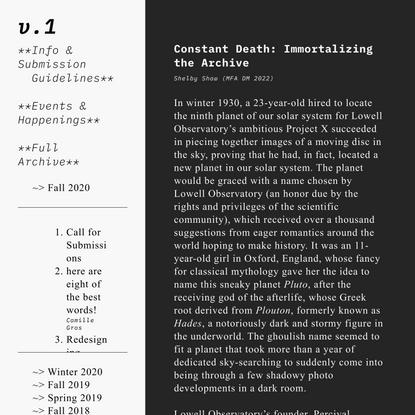 Constant Death — volume 1