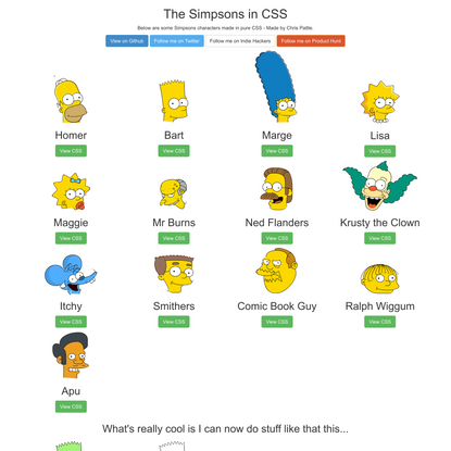 The Simpsons in CSS