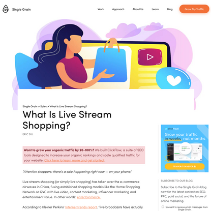 What Is Live Stream Shopping? - Single Grain