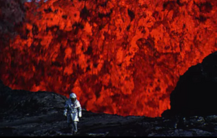 the earth's core is red