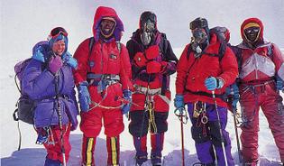 hall-and-ball-jan-arnold-norbu-sherpa-doug-mantle-len-harvey-ang-dorje-sherpa-on-cho-oyu-summit-sept-26-1995.jpg