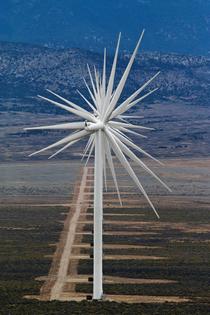 Wind Turbines Lined Up, Nevada