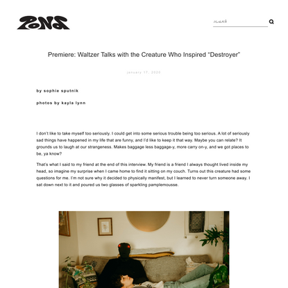 """Premiere: Waltzer Talks with the Creature Who Inspired """"Destroyer"""" — POND Magazine"""