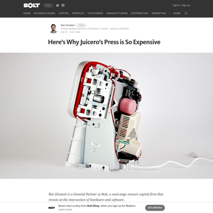 Here's Why Juicero's Press is So Expensive - Bolt Blog