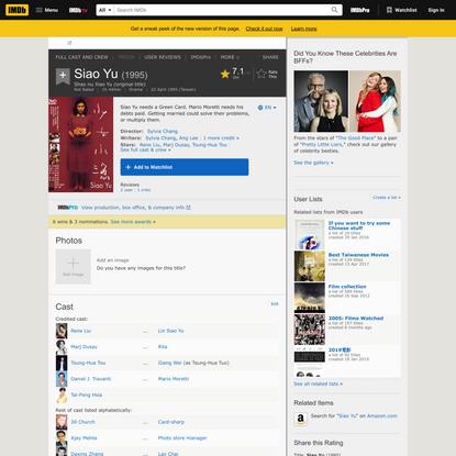 Siao Yu (1995) - IMDb