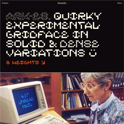 ARK-ES Typeface – Stuedio