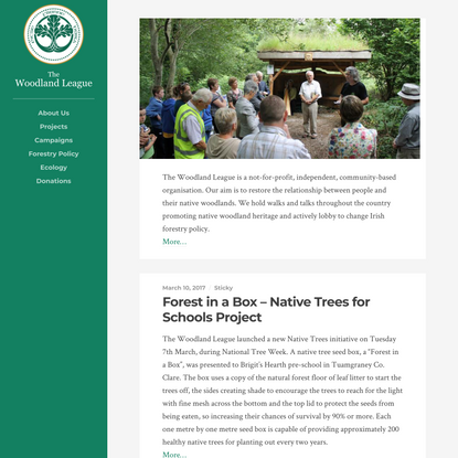 The Woodland League | Dedicated to Restoring the Relationship between People and their Native Woodlands