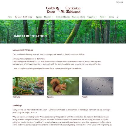 Cambrian Wildwood: Land management