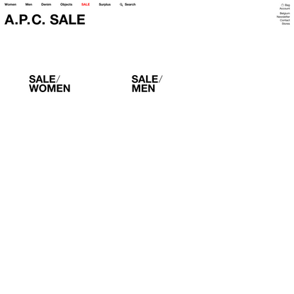 Clothing Sale | A.P.C.