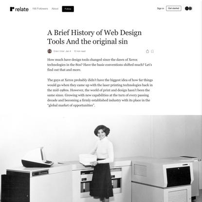 A Brief History of Web Design Tools