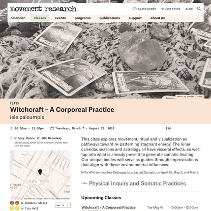 Witchcraft - A Corporeal Practice   Movement Research