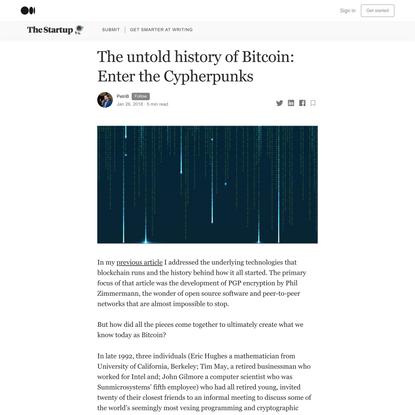 The untold history of Bitcoin: Enter the Cypherpunks