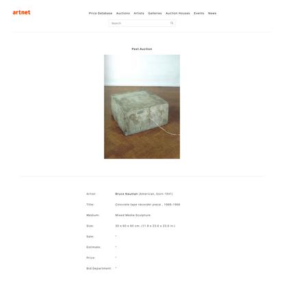Concrete tape recorder piece by BruceNauman