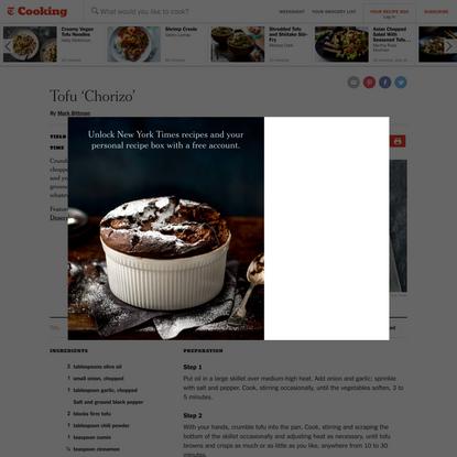 Tofu 'Chorizo' Recipe