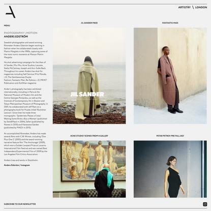 Artistry London \ Photographer & Filmmaker Anders Edström