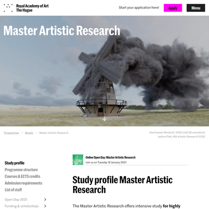 Master Artistic Research | Royal Academy of Art (KABK)