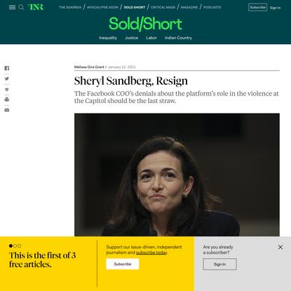 Sheryl Sandberg, Resign