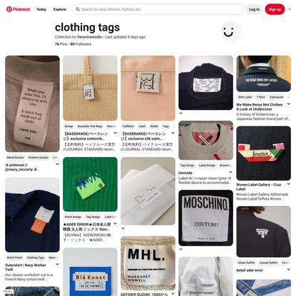 70+ Clothing tags-Ideen in 2021 | kleidung etiketten, glückliche wörter, etiketten drucken