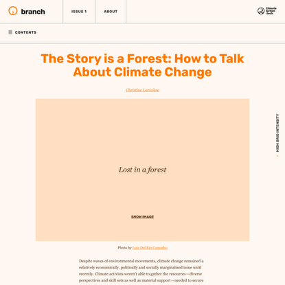 The Story is a Forest: How to Talk About Climate Change - Branch