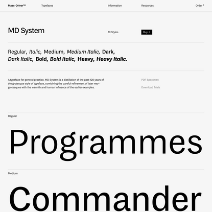 MD System · Mass-Driver™