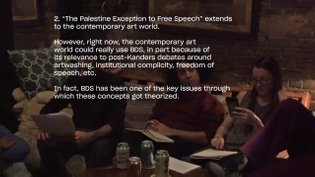 in progress notes on BDS & its obstacles within contemporary art