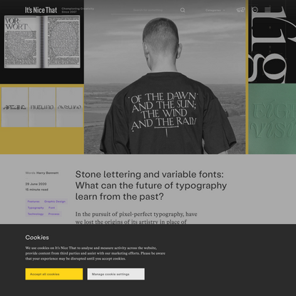 Stone lettering and variable fonts: What can the future of typography learn from the past?