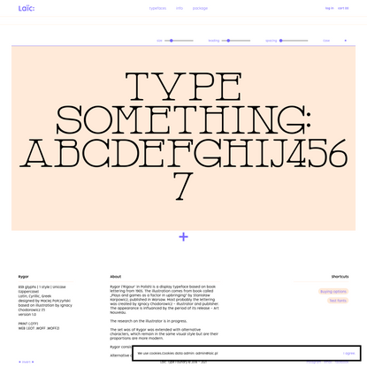 Rygor Typeface – Laïc: Type Foundry