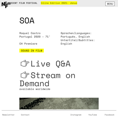 SOA — Norient Film Festival Bern
