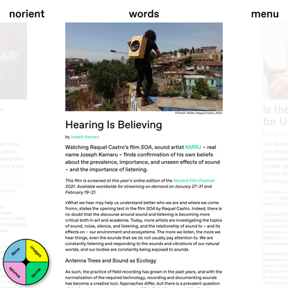 Hearing Is Believing | norient.com