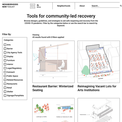 Tools for community-led recovery - Neighborhoods Now