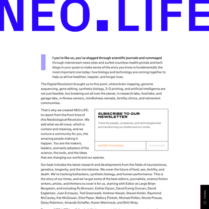About - NEO.LIFE