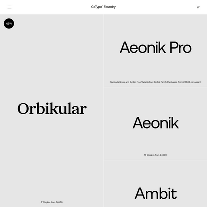 CoType Foundry — London based type foundry of Mark Bloom and Co.