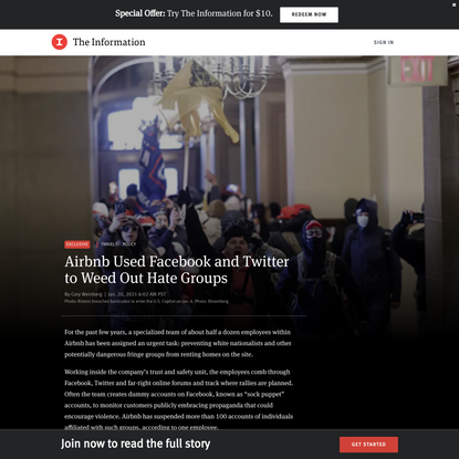 Airbnb Used Facebook and Twitter to Weed Out Hate Groups