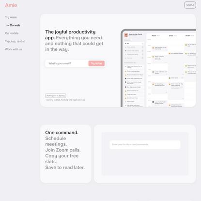 Amie - the joyful productivity app.