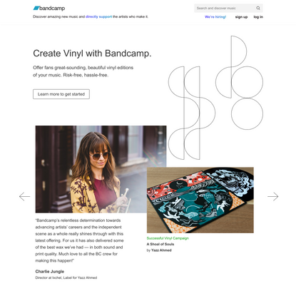 Create Vinyl Records with Bandcamp | Bandcamp