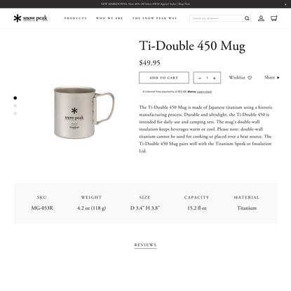 Ti-Double 450 Mug