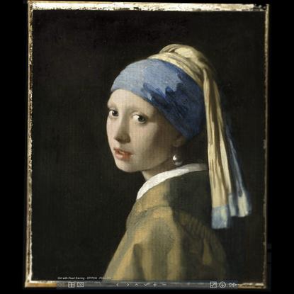 HIROX - GIRL WITH PEARL EARRING - GIGAPIXEL PANORAMA