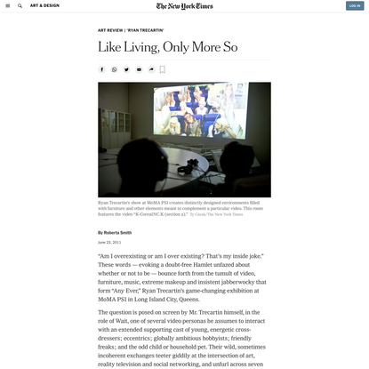 Like Living, Only More So (Published 2011)