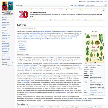 Lab Girl - Wikipedia