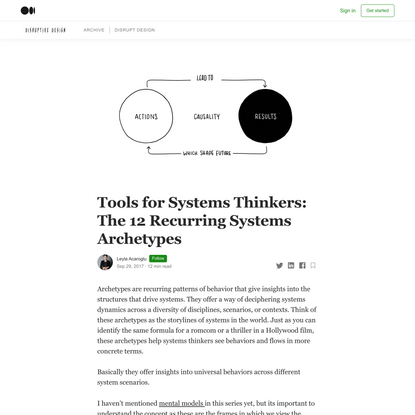 Tools for Systems Thinkers: The 12 Recurring Systems Archetypes