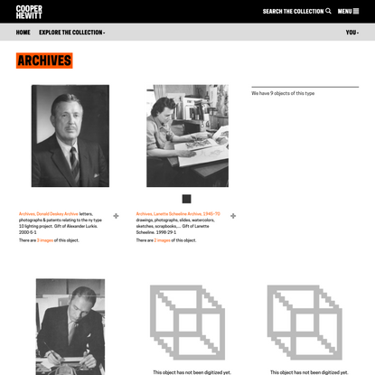 Archives | Types | Collection of Cooper Hewitt, Smithsonian Design Museum